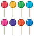 set of colorful lollipops vector image vector image