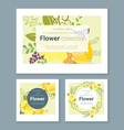 Set of invitation cards with colorful flowers 5 vector image vector image