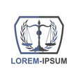 simple law firm and attorney logo and icon vector image