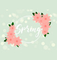 spring floral greeting card paper flowers vector image