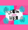 summer background memphis style pop art vector image vector image