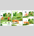 summer posters set - natural parkland vector image