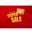 Super Sale poster vector image