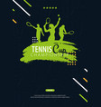 tennis championship banner design with player and vector image vector image