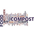 the best food for your compost bin text vector image vector image