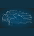 the model sports a premium sedan vector image vector image