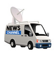 tv broadcasting van car vector image