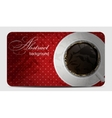 Vintage coffee gift card vector image vector image