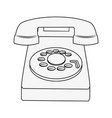 vintage telephone isolated vector image vector image