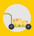 Warehouse icons logistic blank and transportation