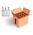 wine case for export vector image