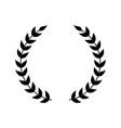 wreath symbol for award emblem vector image vector image