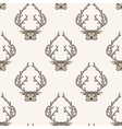Zentangle stylized deer seamless pattern Hand vector image vector image