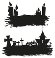 Halloween abstract set isolated on a white vector image