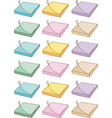 Colorful paper sticky notes vector image