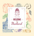 thailand hand drawn composition vector image