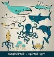 Underwater Set vector image