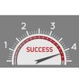 Success speedometer vector image