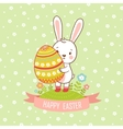 Card easter bunny vector image