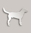 Labrador paper style vector image