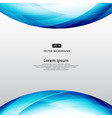 abstract blue square lines world curve footer