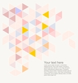 Abstract flat triangle surface background vector image vector image