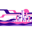 abstract geometric flat style cityscape vector image vector image