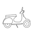 abstract old motorcycle vector image vector image