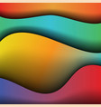 abstract waves of color background vector image vector image