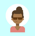 african american female wearing sun glasses vector image vector image
