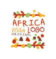african ethnic hand drawn ornament with arrows vector image vector image
