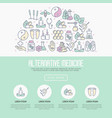 alternative medicine concept with thin line icons vector image vector image