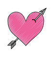 arrowed heart icon vector image