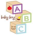 Baby Boy Blocks vector image vector image