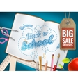 Back to School sale background EPS 10 vector image vector image
