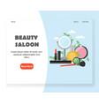 beauty saloon website landing page design vector image vector image