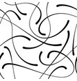 blob doodle curves seamless pattern vector image vector image