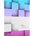 Bright background with squares vector image vector image