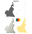 Cameroon outline map set vector image vector image