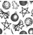 christmas decoration elements seamless pattern vector image