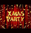christmas party invitation template poster vector image vector image