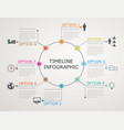 circular timeline infographics template vector image vector image