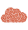 cloud collage of guard icons vector image vector image