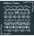 collection chalkboard dividers vector image
