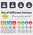 Conical Flask icon sign Big set of colorful vector image vector image