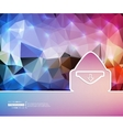 Creative mail Art template vector image