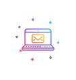 e-mail line icon message correspondence sign vector image