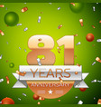 eighty one years anniversary celebration design vector image vector image