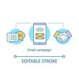email campaign concept icon brand promotion idea vector image vector image