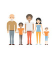family elder son couple vector image vector image